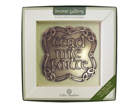PLAQUES & GIFTS CELTIC BRONZE GALLERY WALL PLAQUE - CEAD MILE FAILTE