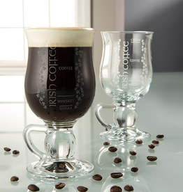 BARWARE GALWAY CRYSTAL IRISH COFFEE GLASSES - RECIPE (2)