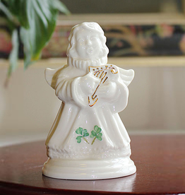 ANGELS BELLEEK CHOIR of ANGELS HARP FIGURINE
