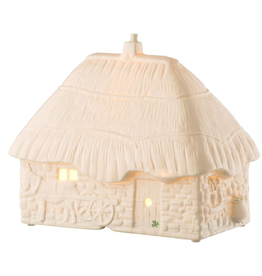 DECOR BELLEEK THATCHED COTTAGE LUMINAIRE