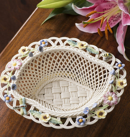 DECOR BELLEEK SUMMER FLOWERS BASKET