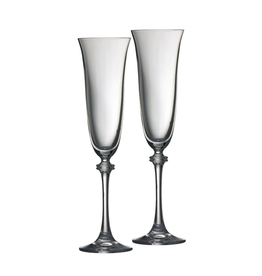 WEDDING GALWAY CRYSTAL LIBERTY FLUTES (2)