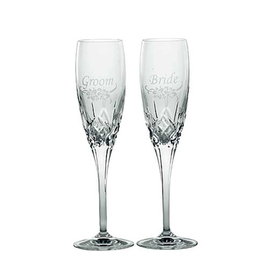 WEDDING FLUTES GALWAY CRYSTAL FLUTES - BRIDE & GROOM (2)