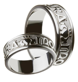 MISC NOVELTY CLEARANCE - BORU STERLING GENTS MO ANAM CARA RING - FINAL SALE