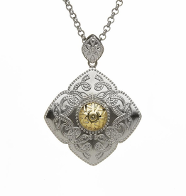 PENDANTS & NECKLACES BORU STERLING & 18K DIAMOND SHAPED CELTIC WARRIOR PENDANT