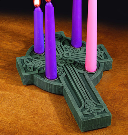 HOLIDAY CELTIC CROSS ADVENT CANDLE HOLDER