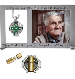 CROSSES CELTIC MEMORIAL FRAME with ASH VIAL