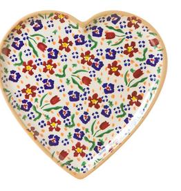 KITCHEN & ACCESSORIES NICHOLAS MOSSE MEDIUM HEART PLATE - WILD FLOWER