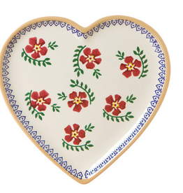 KITCHEN & ACCESSORIES NICHOLAS MOSSE MEDIUM HEART PLATE - OLD ROSE