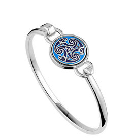 BRACELETS & BANGLES SOLVAR BOOK of KELLS TRISKAL BANGLE - Blue