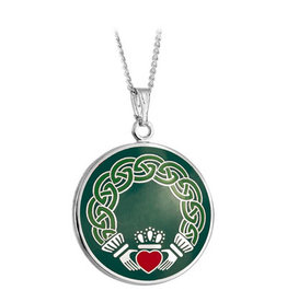 PENDANTS & NECKLACES SOLVAR BOOK of KELLS CLADDAGH PENDANT
