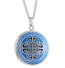 PENDANTS & NECKLACES SOLVAR BOOK of KELLS 4TRIN PENDANT - Blue