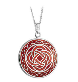 PENDANTS & NECKLACES SOLVAR BOOK of KELLS CELTIC KNOT PENDANT - Red