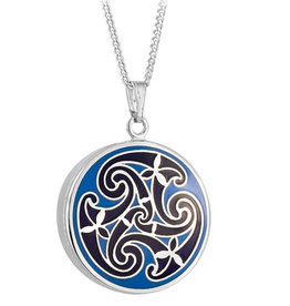 PENDANTS & NECKLACES SOLVAR BOOK of KELLS TRISKAL PENDANT - Blue