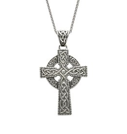 CELTIC CROSSES SHANORE STERLING XL CELTIC CROSS PENDANT