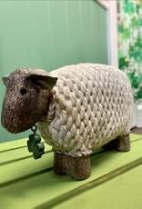 DECOR IRISH SHEEP with SHAMROCK CHARM DECOR