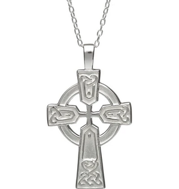 PENDANTS & NECKLACES WOODS STERLING CELTIC CROSS PENDANT