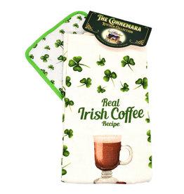 KITCHEN & ACCESSORIES IRISH COFFEE TEA TOWEL & POT HOLDER