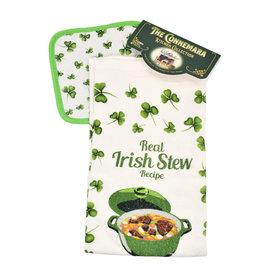 KITCHEN & ACCESSORIES IRISH STEW TEA TOWEL & POT HOLDER