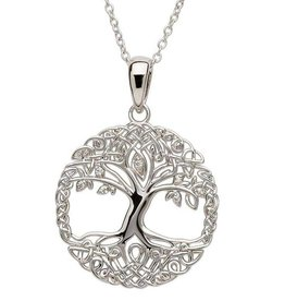 PENDANTS & NECKLACES SHANORE STERLING TREE OF LIFE PENDANT with CZs