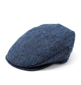 CAPS & HATS VINTAGE WOOL HANNA HAT - Blue & Black Herringbone