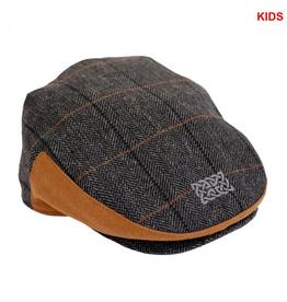 CAPS & HATS KID'S GREY-TWEED CAP with CELTIC KNOT