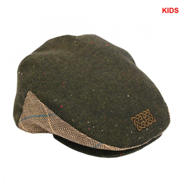 CAPS & HATS KID'S GREEN-TWEED CAP with CELTIC KNOT