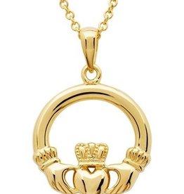 PENDANTS & NECKLACES SHANORE 14K GOLD VERMEIL CLASSIC CLADDAGH PENDANT