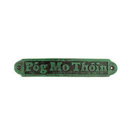 """DECOR """"POG MO THOIN"""" GREEN/BLACK PLAQUE"""