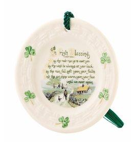 ORNAMENTS BELLEEK 'IRISH BLESSING' PLATE ORNAMENT