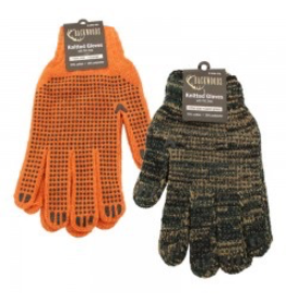 Backwoods Knitted Dotted Gloves - ORANGE