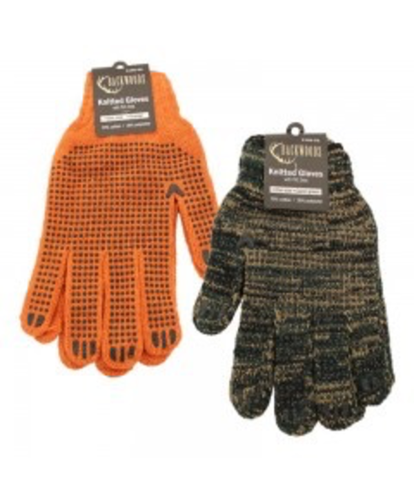 Knitted Dotted Gloves - ORANGE
