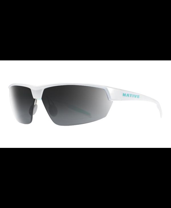 Native Sunglasses Hardtop Ultra, Frame Pearl White, Lens N3 Gray