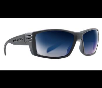 Native Sunglasses Raghorn, Frame Granite, Lens Blue Reflex