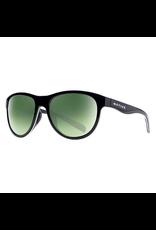 Native Eyewear Native Sunglasses Acadia, Frame Matte Black, Lens Green Reflex
