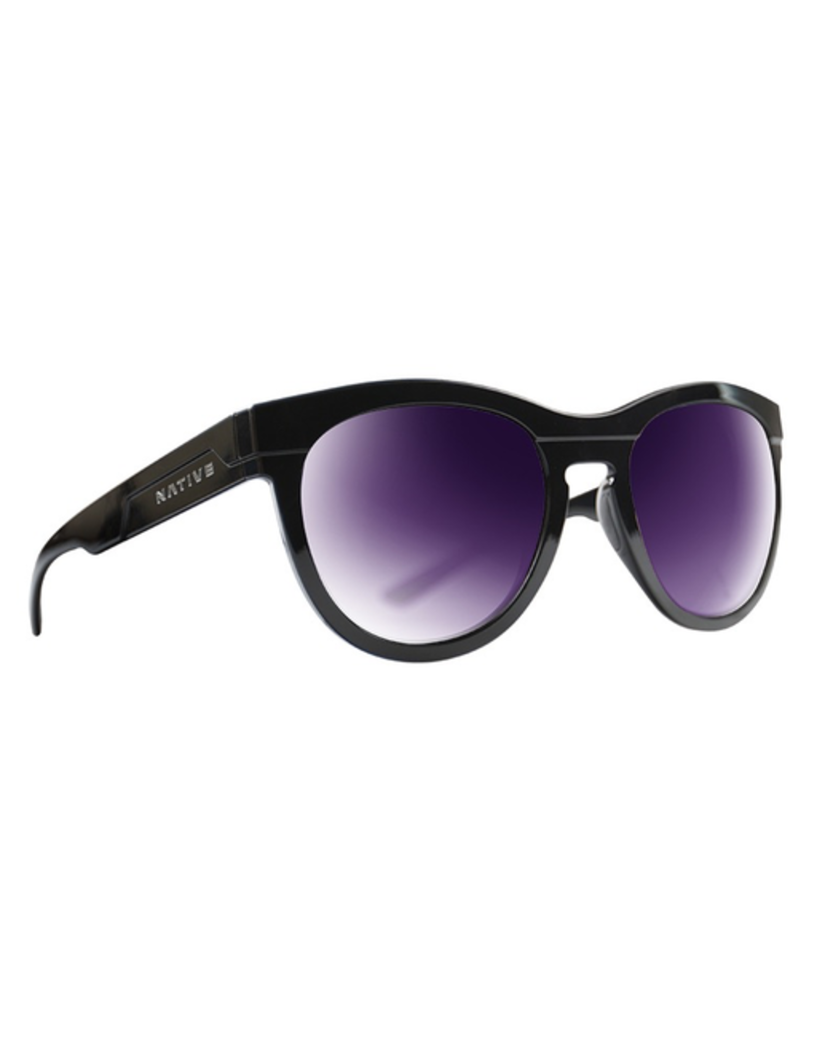 Native Eyewear Native Sunglasses La Reina, Frame Gloss Black, Lens Violet Reflex