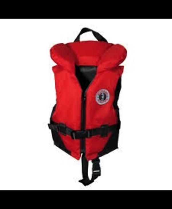 Mustang Survival Classic Nylon Infant Vest PFD, Red/Black (123), 20 - 30 lbs
