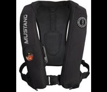 Mustang Survival Elite Inflatable PFD Life Jacket, Black