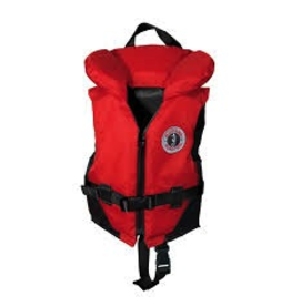 Mustang Survival Mustang Survival Classic Nylon Youth Vest PFD, Red/Black (123), 60 - 90 lbs