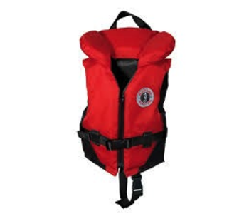 Mustang Survival Classic Nylon Children Vest PFD, Red/Black (123), 30 - 60 lbs