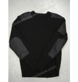 St. Gilles Surplus Black Wool Sweater