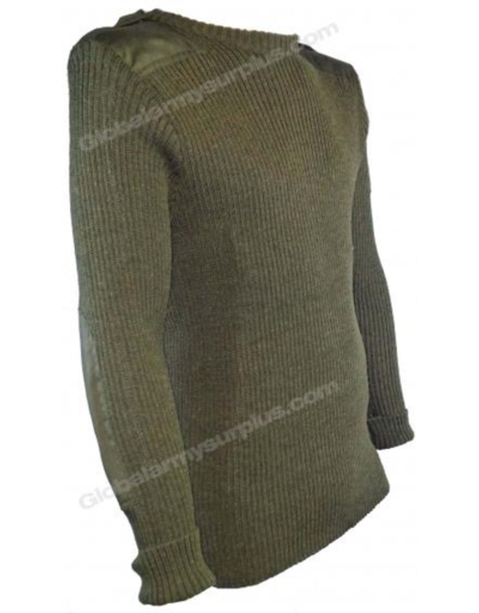 St. Gilles Surplus Olive Drab Wool Sweater