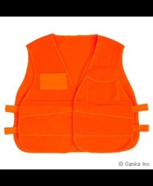 GKS Mens Fleece Sleeveless Hunting Vest, Orange, O/S