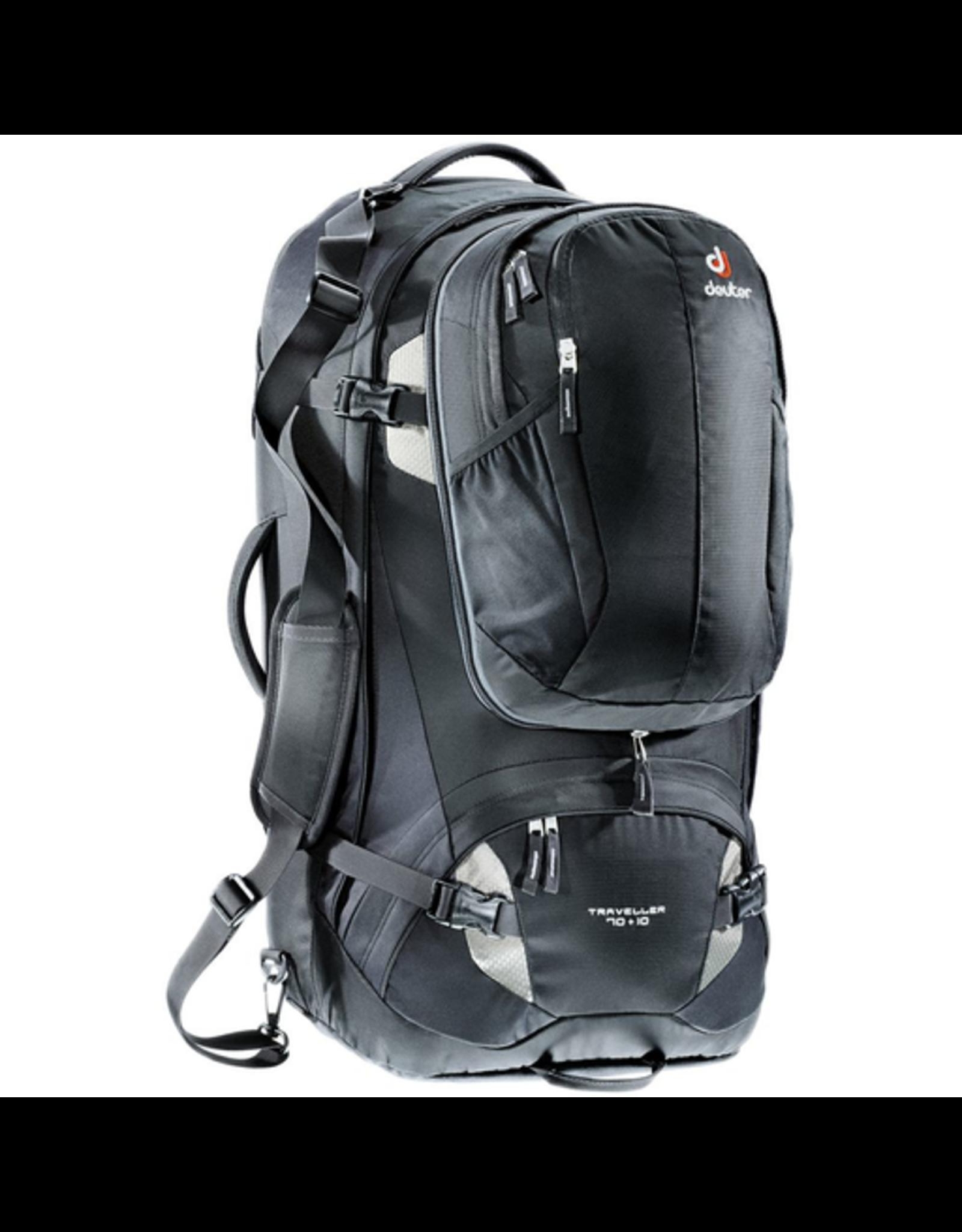 Deuter Deuter Traveller 70+10 Backpack, Black/Silver