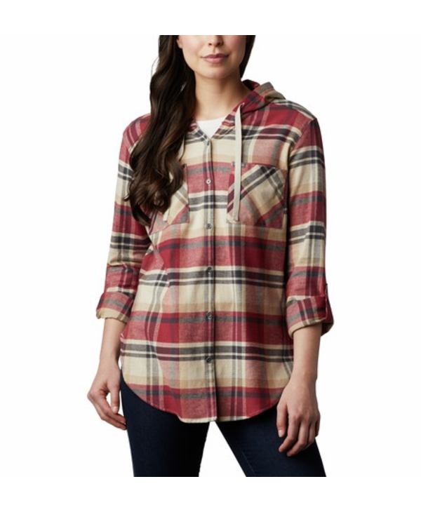 Columbia Women's Anytime Stretch Hooded Long Sleeve Shirt