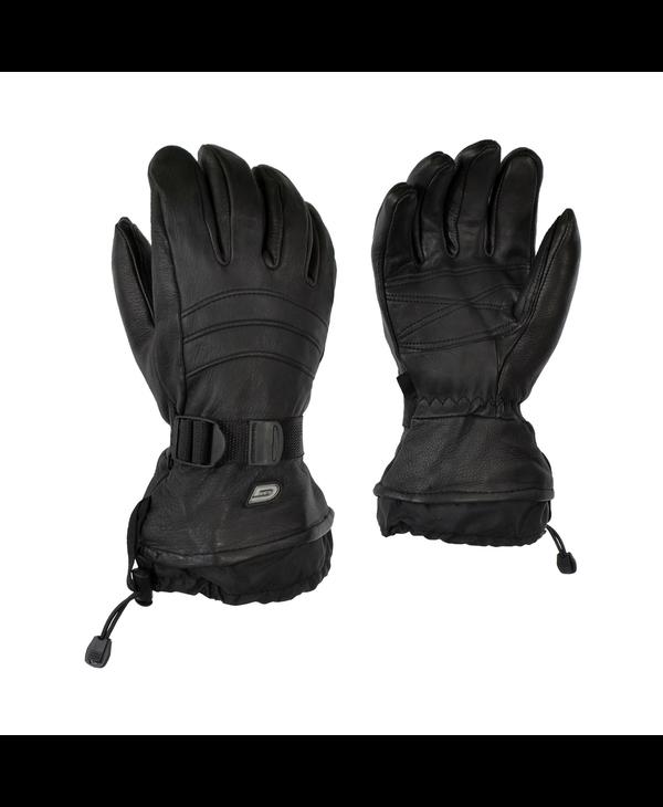 GKS Mens Deerskin Glove with Detatchable Fleece and Wrist Strap