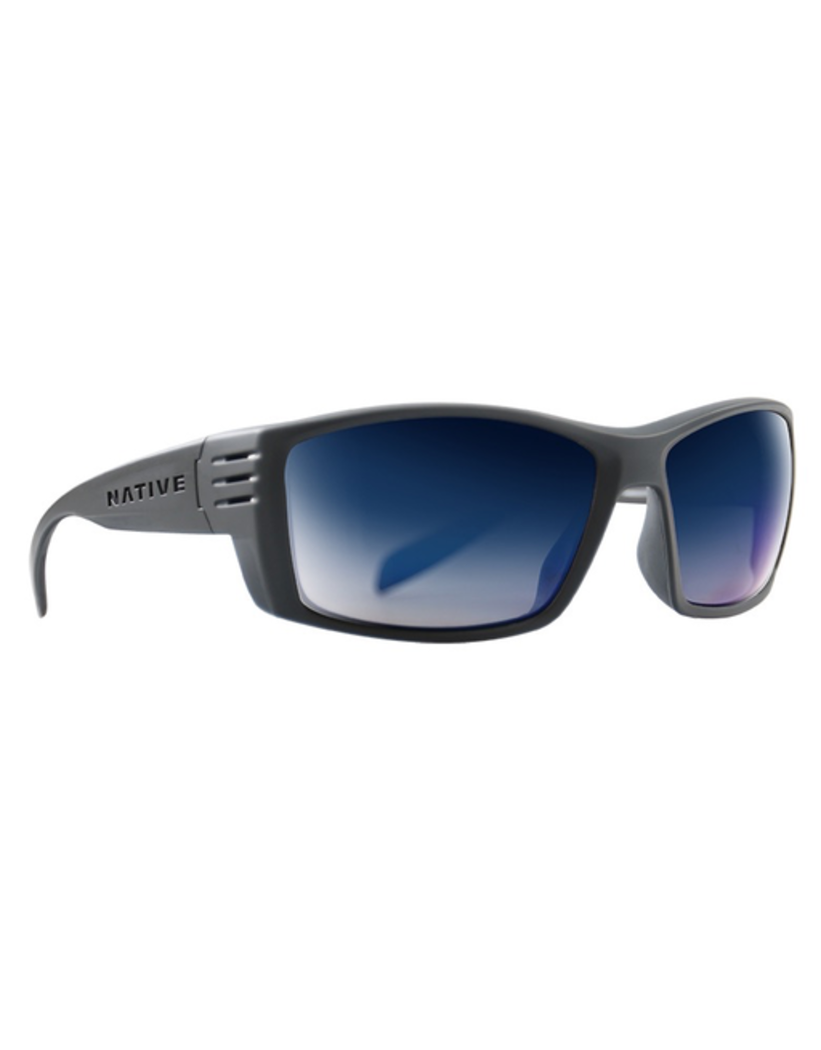 Native Eyewear Native Sunglasses Raghorn, Frame Granite, Lens Blue Reflex