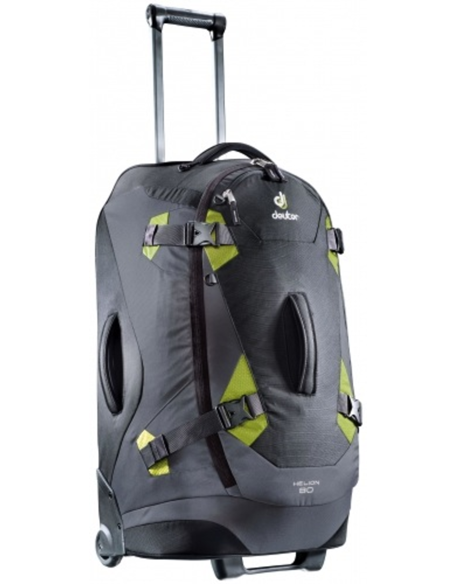 Deuter Deuter Helion 80L Roller Duffle Travel Pack, Black/Moss