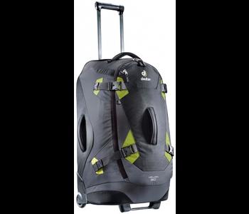 Deuter Helion 80L Roller Duffle Travel Pack, Black/Moss