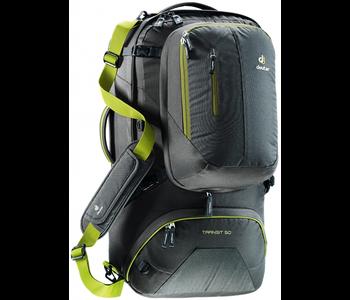 Deuter Transit 50L Travel Pack -Anthracite/Moss